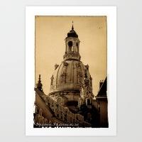 blick auf die frauenkirche in dresden prints