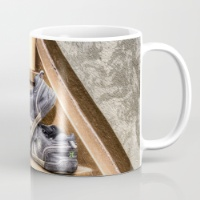 old-childrens-shoes-on-a-stairway-mugs