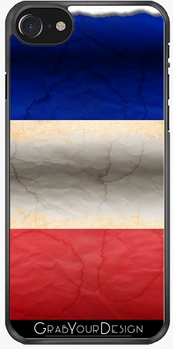 GrabYourDesign - Case for Iphone 7/7S Flag of France...Grunged - by pASob